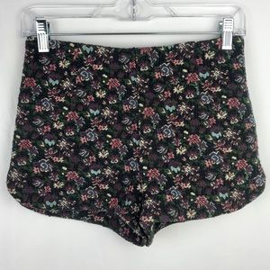 Kimchi Blue high waist floral tapestry shorts